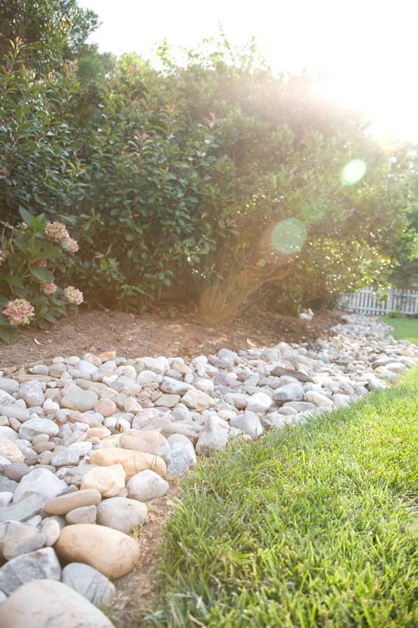 Cutting edge lawn and landscaping llc servicing for Installing river rock landscaping